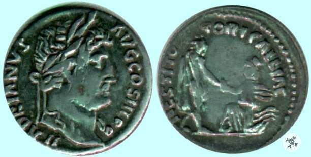 Adriano denario RESTITOTORI GALLIAE 134-138d.C. (Roma)
