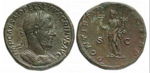 Macrino Sesterzio Felicitas 217-218d.C. (Roma)