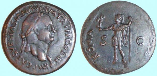 Vespasiano sesterzio ROMA 71d.C. (Roma)
